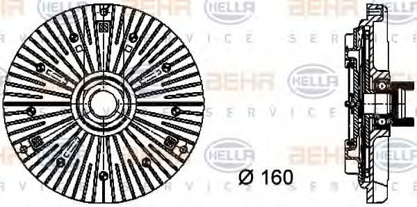 Сцепление, вентилятор радиатора HELLA 8MV376732111