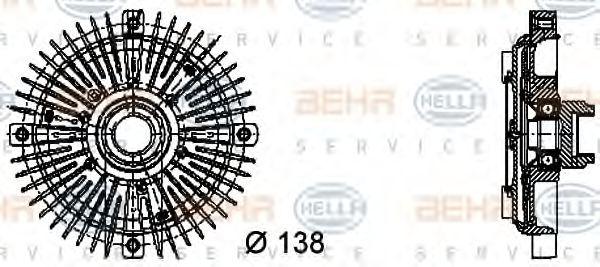 Сцепление, вентилятор радиатора HELLA 8MV376732231