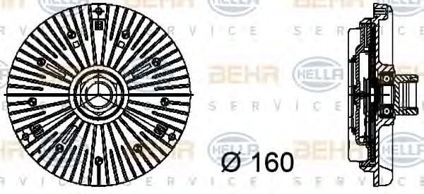 Сцепление, вентилятор радиатора HELLA 8MV376734441