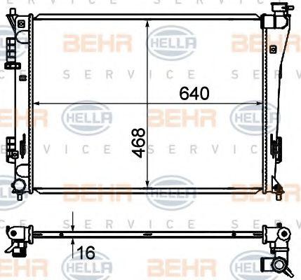 Радіатор охолоджування  арт. 8MK376735251