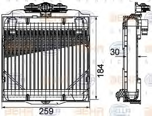 Масляный радиатор АКПП Радіатор масляний HELLA арт. 8MO376753571