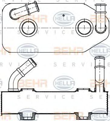 Масляный радиатор АКПП HELLA арт. 8MO376787681
