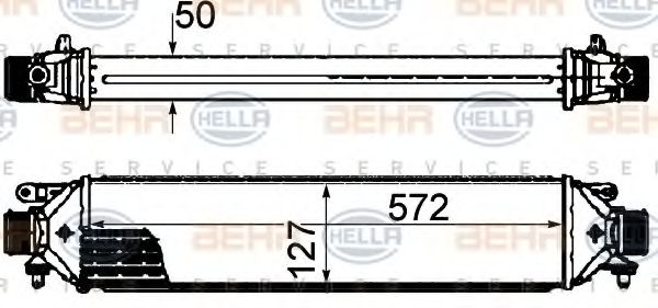 Интеркулер 1.9JTD PF (±AC) [572*132*53][OE 51783791]  арт. 8ML376899131