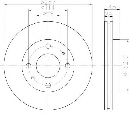 Тормозной диск  арт. 8DD355110931
