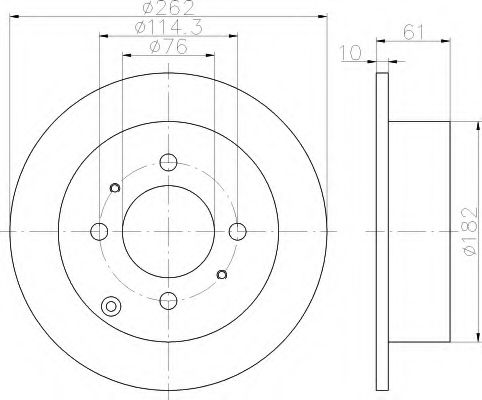 Тормозной диск  арт. 8DD355110941
