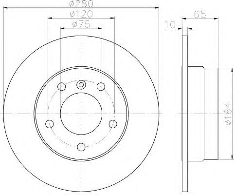 Тормозной диск  арт. 8DD355111261
