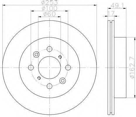 Тормозной диск  арт. 8DD355111591