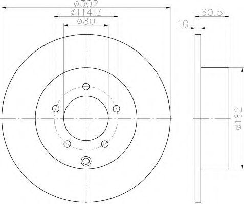 Тормозной диск  арт. 8DD355115491
