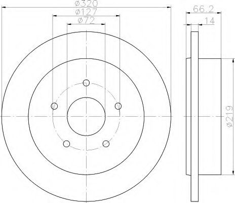 Тормозной диск  арт. 8DD355115501