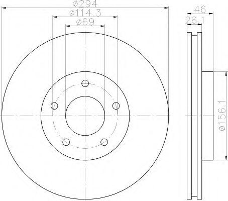 Тормозной диск  арт. 8DD355115911