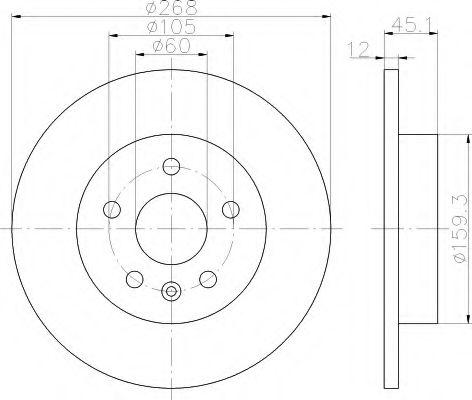 Тормозной диск  арт. 8DD355116581