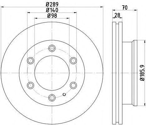 Тормозной диск  арт. 8DD355116841