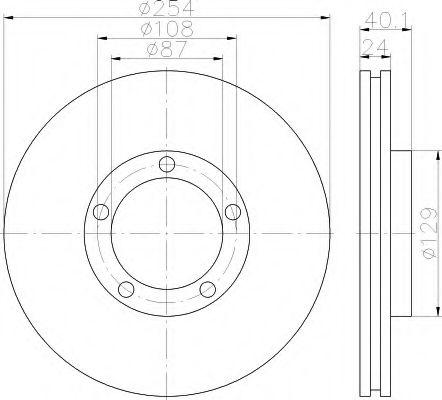 Тормозной диск  арт. 8DD355117381