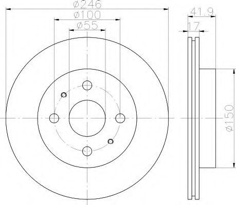 Тормозной диск  арт. 8DD355114421