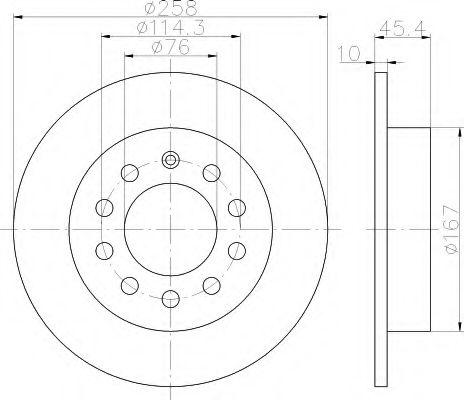 Тормозной диск  арт. 8DD355114531