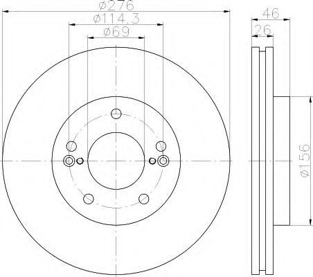 Тормозной диск  арт. 8DD355115091