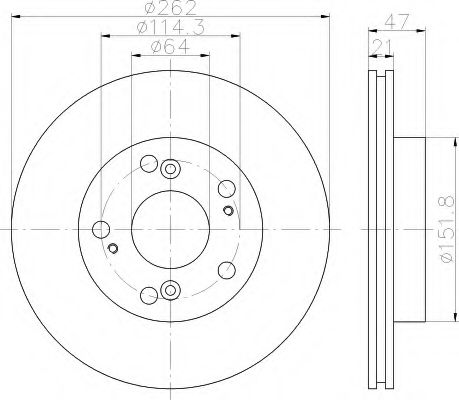 Тормозной диск  арт. 8DD355115341