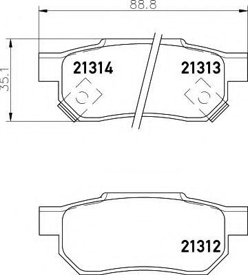 Комплект тормозных колодок, дисковый тормоз  арт. 8DB355005731