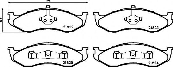 Комплект тормозных колодок, дисковый тормоз  арт. 8DB355008231