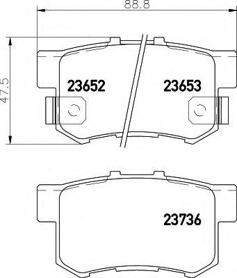 Комплект тормозных колодок, дисковый тормоз  арт. 8DB355009581
