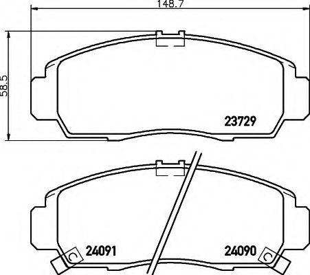 Комплект тормозных колодок, дисковый тормоз  арт. 8DB355009771