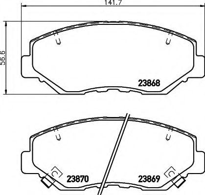 Комплект тормозных колодок, дисковый тормоз  арт. 8DB355010231