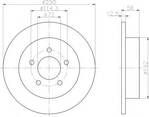Тормозной диск  арт. 8DD355107901