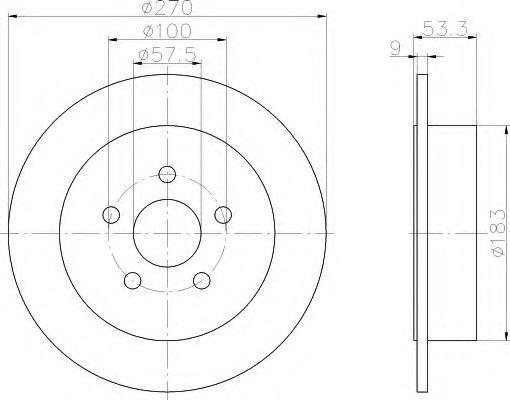 Тормозной диск  арт. 8DD355107921