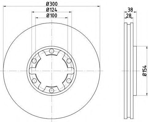 Тормозной диск  арт. 8DD355108021