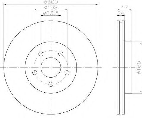 Тормозной диск  арт. 8DD355108041