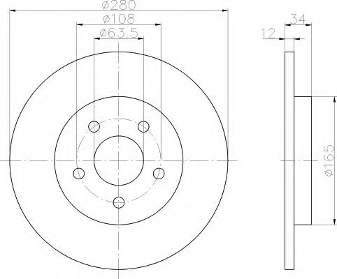 Тормозной диск  арт. 8DD355108061