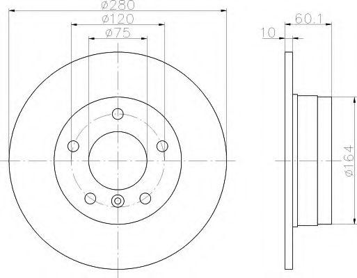Тормозной диск  арт. 8DD355102601