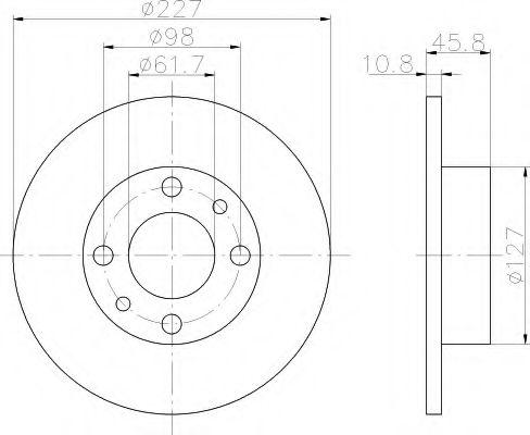 Тормозной диск  арт. 8DD355100361