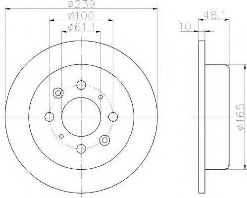 Тормозной диск  арт. 8DD355103111