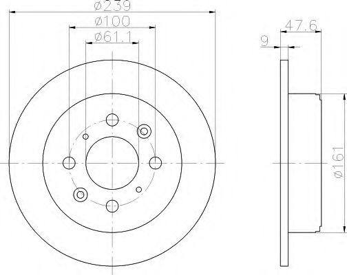 Тормозной диск  арт. 8DD355104951