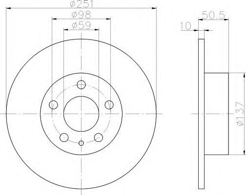 Тормозной диск  арт. 8DD355101971