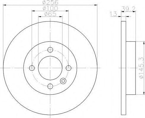 Тормозной диск  арт. 8DD355101641