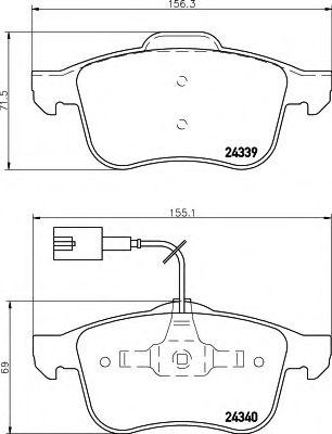 Комплект тормозных колодок, дисковый тормоз  арт. 8DB355006901