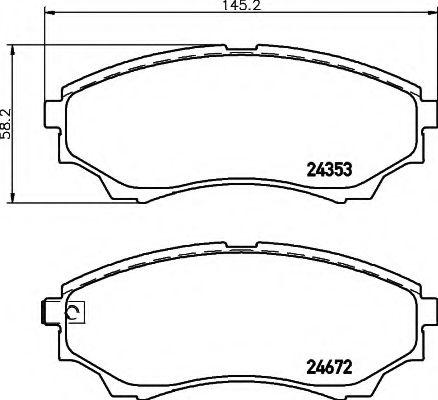 Комплект тормозных колодок, дисковый тормоз  арт. 8DB355012381