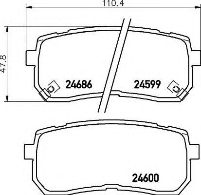 Комплект тормозных колодок, дисковый тормоз  арт. 8DB355013551