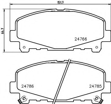 Комплект тормозных колодок, дисковый тормоз  арт. 8DB355013881