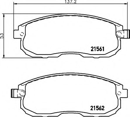 Комплект тормозных колодок, дисковый тормоз  арт. 8DB355013991