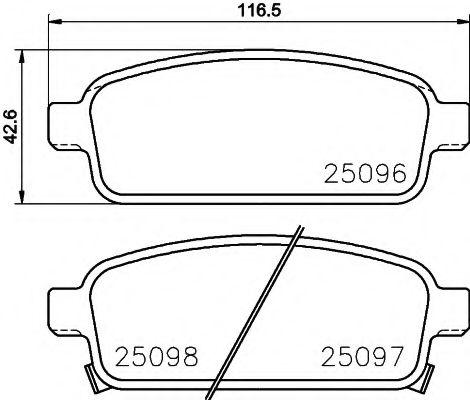 Комплект тормозных колодок, дисковый тормоз  арт. 8DB355015221