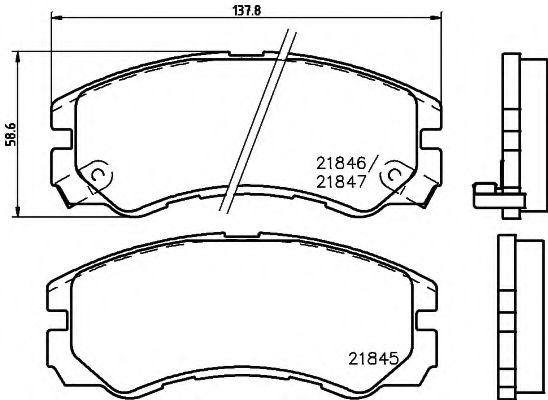 Комплект тормозных колодок, дисковый тормоз  арт. 8DB355016611