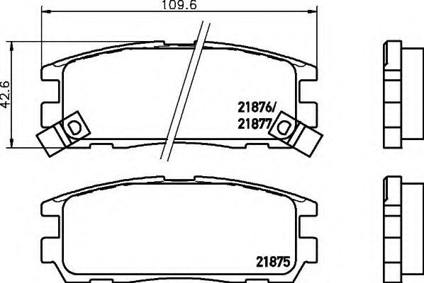 Комплект тормозных колодок, дисковый тормоз  арт. 8DB355016621