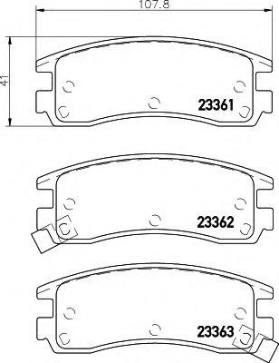 Комплект тормозных колодок, дисковый тормоз  арт. 8DB355016961