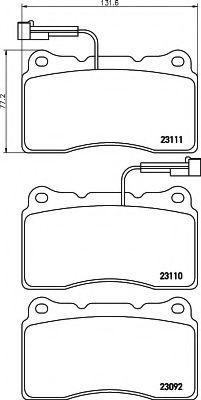 Комплект тормозных колодок, дисковый тормоз  арт. 8DB355018361