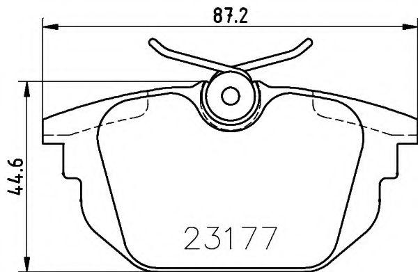 Комплект тормозных колодок, дисковый тормоз  арт. 8DB355018371