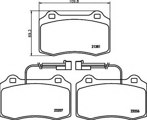 Комплект тормозных колодок, дисковый тормоз  арт. 8DB355018421