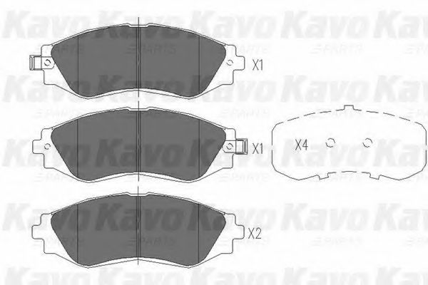 KAVO PARTS CHEVROLET Тормозные колодки передн.Lacetti, Epica 2.0 KAVOPARTS KBP1001